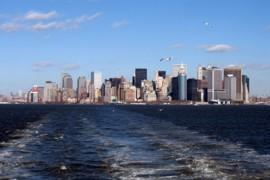 NY Skyline von der Staten Island Ferry aus, USA, www.anitaaufreisen.at
