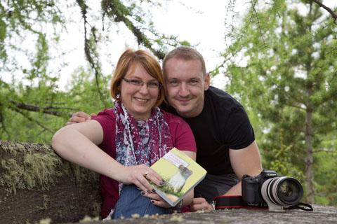 Autorin Anita Arneitz mit Hobbyfotograf Matthias Eichinger