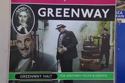 Greenway Plakat in Torquay, www.anitaaufreisen.at