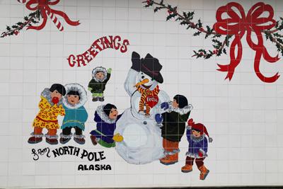 Santa Claus, North Pole, Alaska, USA, Foto www.anitaaufreisen.at