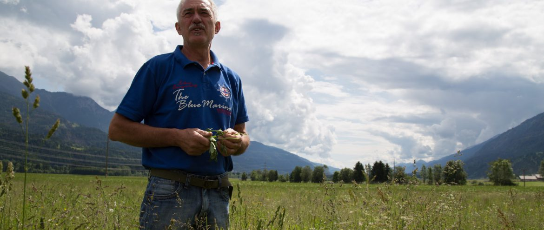 Sepp Brandstätter weißer Landmais Slow-Food-Travel Gailtal