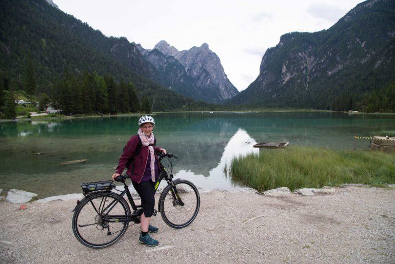 Fernradweg München-Venezia, Etappe Toblach-Cortina, Toblacher See (c)www.anitaaufreisen.at