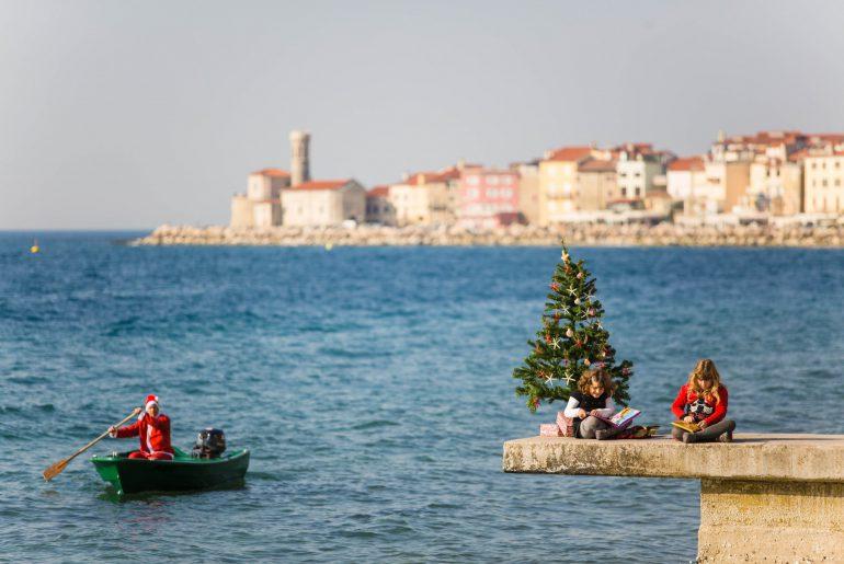 Weihnachten in Piran, Foto Piran