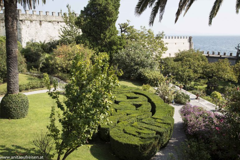 Isola del Garda, Gärten am Gardasee, www.anitaaufreisen.at