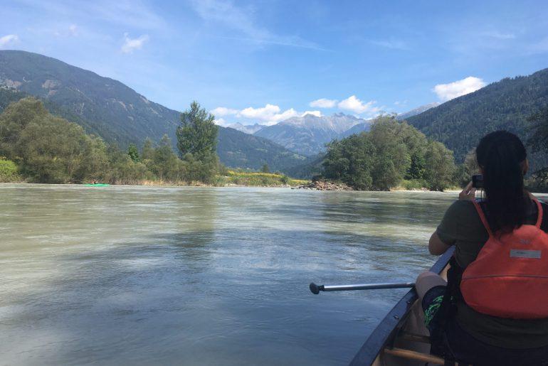 Paddeln auf der Drau, Kärnten, Österreich, www.anitaaufreisen.at