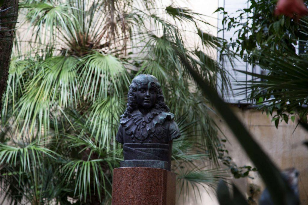 Napoleon Statue gegenüber seinem Geburtshaus in Ajaccio, Korsika, Foto Anita Arneitz, www.anitaaufreisen.at
