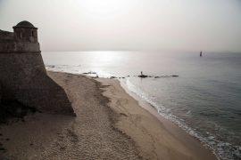 Strand von Ajaccio, Korsika, Foto Anita Arneitz, www.anitaaufreisen.at