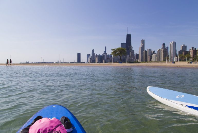 Reise Highlights, SUP in Chicago, Foto Anita Arneitz