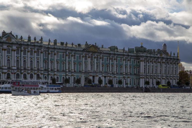 Bootsfahrt auf der Newa in St. Petersburg, Foto Anita Arneitz